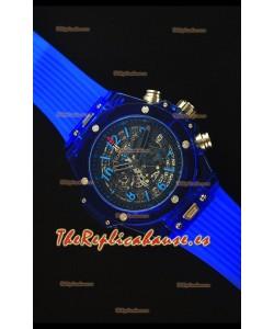 Hublot Big Bang Unico Blue Sapphire Reloj Replica de Cuarzo 45MM