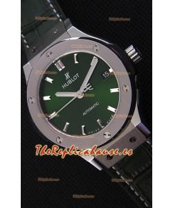 Hublot Big Bang Classic Fusion 38MM Reloj Réplica a Espejo 1:1 Dial Verde