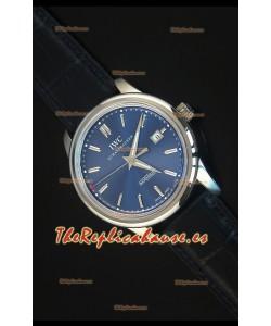 IWC Ingenieur Automatic Reloj Suizo Edición Limitada Dial Azul Replica a Escala 1:1