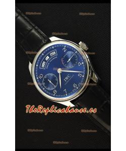IWC Portugieser Annual Calender Midnight Blue IW503502 Reloj Replica a Espejo 1:1