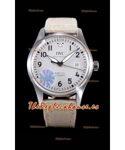 IWC Pilot's MARK XVIII Aviator 1:1 Reloj Suizo en Caja de Acero 904L - Correa de Nylon color Beige