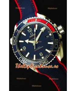 Omega Seamaster Planet Ocean Edición Pyeong Chang 2018 Reloj Réplica Suizo a Espejo 1:1