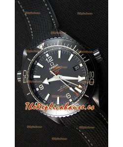 Omega Seamaster Planet Ocean Deep Black GMT 45.5MM Reloj Réplica a Espejo 1:1