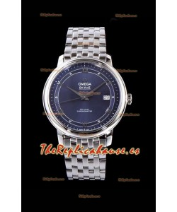 Omega De Ville Prestige Co-Axial 36.8MM Dial Azul Reloj Réplica Suizo a Espejo 1:1
