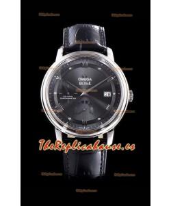 Omega De Ville Prestige Power Reserve Dial Gris Reloj Réplica Suizo a Espejo 1:1 Acero 904L