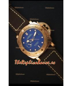 Panerai PAM617T Bronzo Reloj Replica - Última Versión Actualizada - Dial Azul