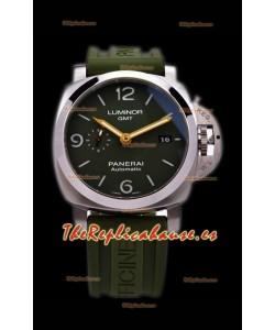 Panerai Luminor Marina GMT PAM1056 Reloj Suizo de Acero 904L - Réplica a Espejo 1:1