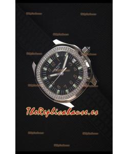 Patek Philippe Aquanaut Reloj Replica Suizo con Bisel de Diamantes Suizos