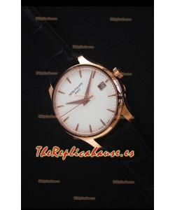 Patek Philippe #Ref 5227 Reloj Replica Suizo a Espejo 1:1 en Oro Amarillo Dial Blanco