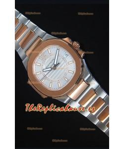 Patek Philippe Ladies Nautilus Reloj de Oro Rosado en Dos Tonos 36MM