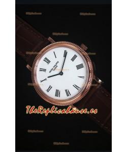 Patek Philippe 5120J Calatrava Mens Reloj Replica Oro Rosado escala 1:1