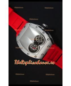 Richard Mille RM053 Tourbillon Pablo Mac Donough Reloj Replica Suizo en Caja de Titanio Correa Roja