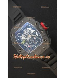Richard Mille RM035-2 Rafael Nadal Caja de Carbón Forjado con Corona Roja