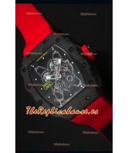 Richard Mille RM35-01 Reloj Replica Suizo Edición Rafael Nadal Correa Nylon Roja