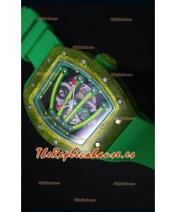 Richard Mille RM059 Reloj Replica Suizo Edición Yohan Blake en Dial color Verde