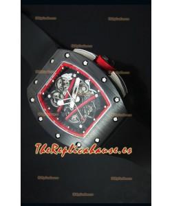 Richard Mille RM061 Reloj Replica Caja de Cerámica Bisel de color Rojo