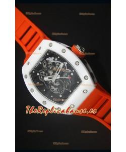 Richard Mille RM055 Reloj con Caja de Cerámica en color Blanco, Interior del Bisel en color Negro