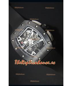 Richard Mille RM061 Reloj Replica Caja de Cerámica Bisel en Blanco y Negro