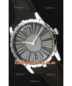 Roger Dubuis Excalibur Caja de Acero Dial Gris Reloj Réplica Suizo