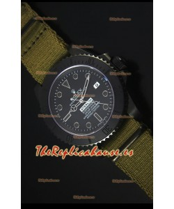 Rolex Submariner Stealth MK IV PVD Reloj Replica Suizo Marcadores de Hora Negros