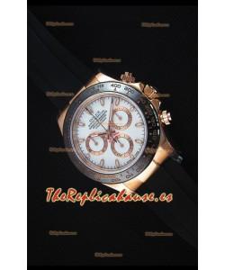 Rolex Daytona 116515 Everose Reloj Replica a Espejo 1:1 Dial Blanco