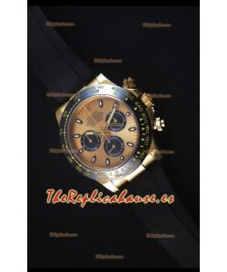 Rolex Daytona 116515 Everose Reloj Replica Suizo a Espejo1:1 en Oro Amarillo