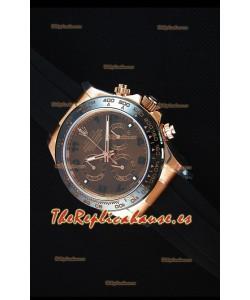 Rolex Daytona 116515 Everose  Reloj Replica a Espejo 1:1 Oro Rosado, Dial Marrón