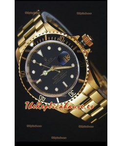 Rolex Submariner 16618 Reloj Replica 1:1 en Oro con Movimiento Suizo 3135
