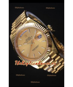 Rolex Day-Date Reloj Replica 40MM en Oro Amarillo Movimiento Suizo 2836-2