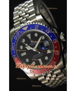 Rolex GMT Masters II 116719BLRO Pepsi Bezel ETA 2836 Movement Réplica Suiza - Reloj Ultimate de Acero 904L