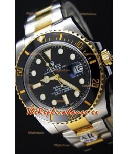 Rolex Submariner Date Ceramic Two Tone 116613 - Replica a Espejo 1:1 - Reloj Ultimate de Acero 904L