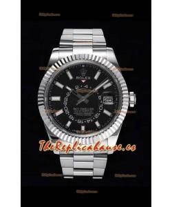 Rolex Sky-Dweller REF# 326934 Reloj Dial Negro con Caja en Acero 904L Reloj Réplica a Espejo 1:1