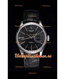 Rolex Cellini Date Ref#50519 Replica Reloj de Acero 904L Réplica a Espejo 1:1 Dial Negro