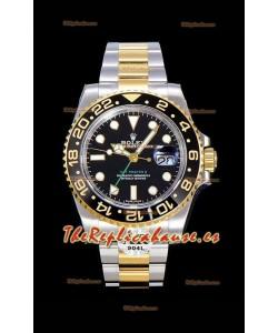 Rolex GMT Masters II 116713 Oro Amarillo Reloj Réplica Suizo a Espejo 1:1 Acero 904L