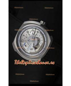 SevenFriday V02-01 Movimiento Miyota 82S7 Edición 1:1 Dial Blanco