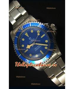 Tudor Oyster Prince Vintage 200M Dial Azul Marcadores en forma de Circulos Reloj Replica Suizo a espejo 1:1