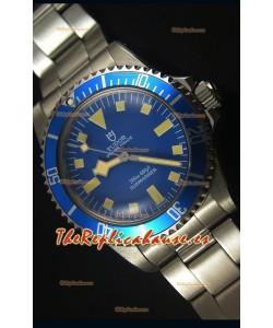 Tudor Oyster Prince Vintage 200M Dial Azul Marcadores en forma de Cuadrados Reloj Replica Suizo a espejo 1:1