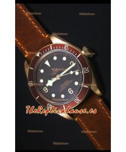 Tudor Heritage Bay Reloj Replica Suizo en Bronce con Correa de Piel