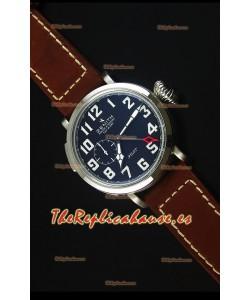 Zenith Heritage Pilot Type 20 GMT Dial Negro Mate Reloj Replica Suizo espejo 1:1