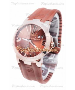 Ulysse Nardin Executive Dual Time Rose Gold Brown Reloj