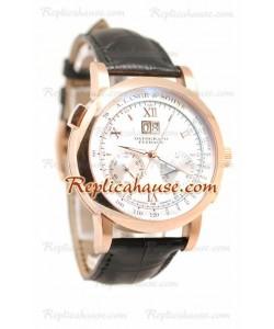 A. Lange Sohne Datograph Flyback Cronógrafo Reloj Suizo para Hombre