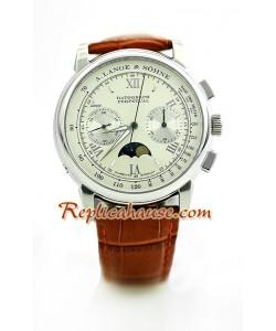 A. Lange Sohne Datograph Perpetual Reloj Suizo de imitación