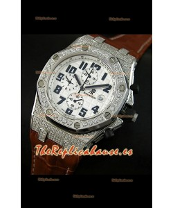 Audemars Piguet Royal Oak Offshore Cuarzo con bisel de diamantes