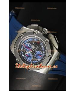 Audemars Piguet Royal Oak Offshore Relo Michael Schumacher en Titanio Color Azul - Última 1:1 Movimiento 3126