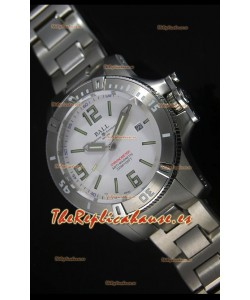 Ball Hydrocarbon Spacemaster Reloj Automático Réplica en Dial Blanco - Movimiento Citizen Original