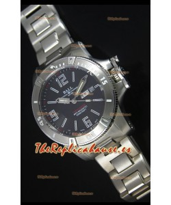Ball Hydrocarbon Spacemaster Reloj Automático Réplica Day Date Dial en Negro - Movimiento Citizen Original