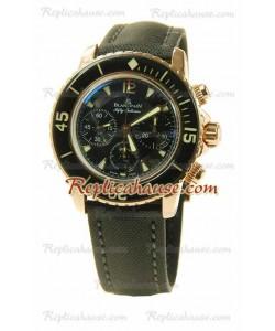 Blancpain Fifty Fathoms Flyback Cronógrafo Reloj Suizo de imitación