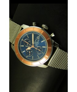 Breitling Super Ocean Reloj Suizo Cronógrafo, Dial Azul