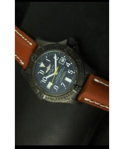 Breitling Seawolf Reloj Suizo con Revestimiento PVD - Marcadores Arábigos