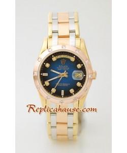 Rolex Réplica Day Date Tres Tonos Reloj